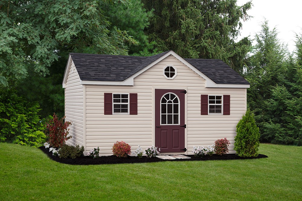 chalet vinyl style shed