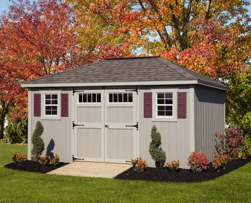villa style shed