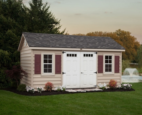 vinyl garden house style of sheds