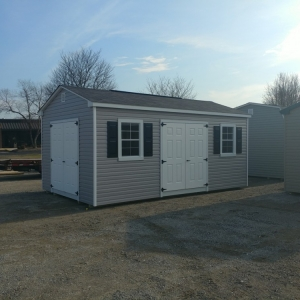 Vinyl Outdoor Shed 12 x 20 x 8 Cottage