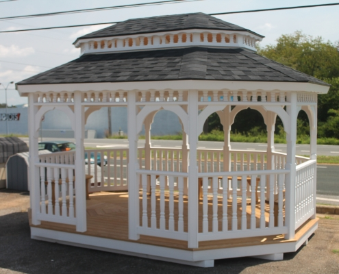 small painted gazebo
