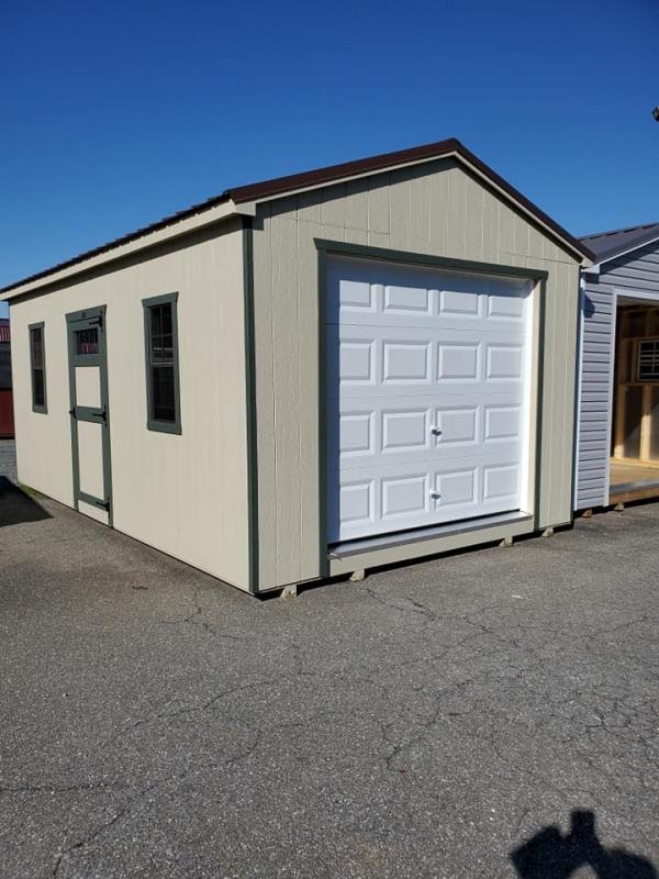Vinyl Garage 12 x 20 x 8 Cottage
