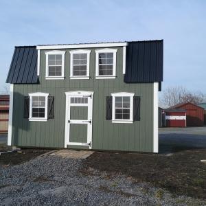 12x20 Full Lofted Barn Stock#2882-W