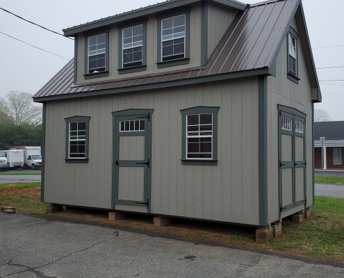 Painted Shed 12 x 20 Story 1/2