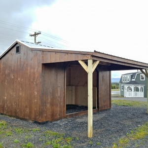 10 x 16 Loafing Shed Stock#1378-W