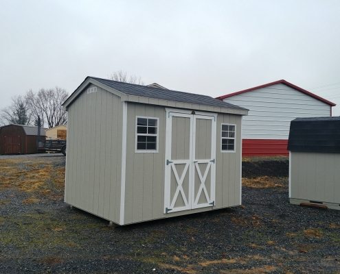 Painted 8x10 7ft sidewall Cottage Shed Stock#2968-W