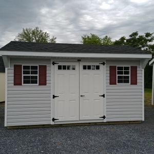 10x14 7ft sidewall Carriage House Stock#1041