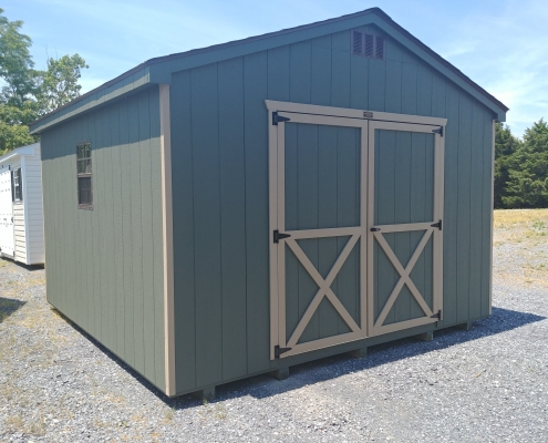 12x12 7ft side wall Cottage Shed Stock#1052-W