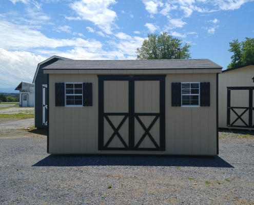 Backyard Shed 8x14 7ft sidewall Cottage Stock#1090-W