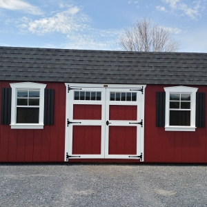 12 x 20 7ft sidewall Red Classic Barn Stock#1057-W