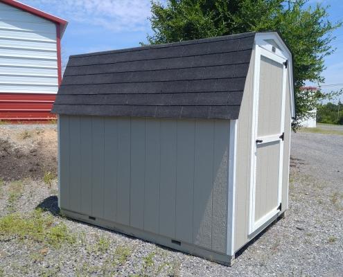 6 x 8 Mini Economy Barn Shed 4ft sidewall Stock#1105-W