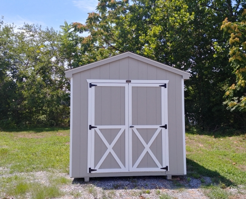 8 x 10 7ft sidewall Cottage Style Shed Stock#1108-W