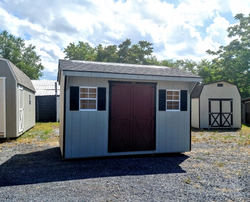8 x 12 7ft sidewall Carriage House Style Shed Stock#1038-W