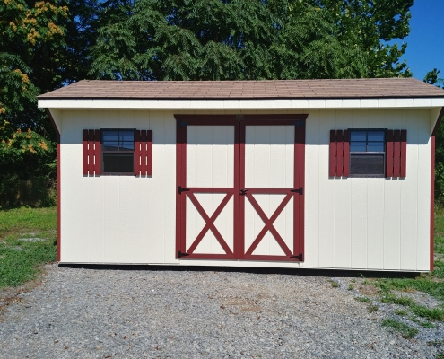 8 x 16 7ft sidewall Carriage House Stock#1091