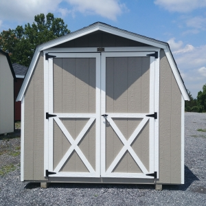 8x10 4ft sidewall Barn Stock#1109