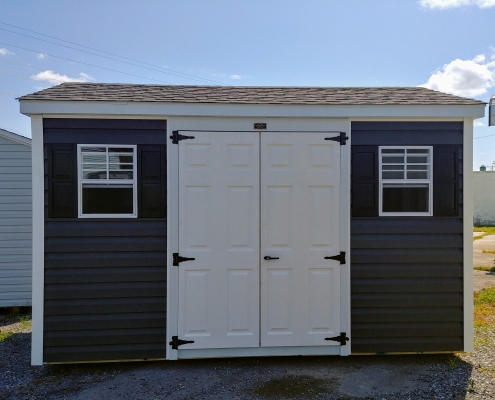 8x12 7ft sidewall Cottage Backyard Shed Stock#1141-W