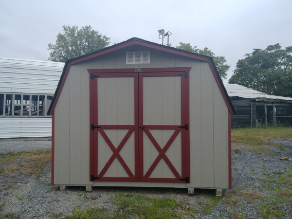 10x10 4ft sidewall Barn Storage Shed Stock#1112-W