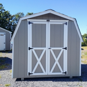 8 x 8 Barn Shed 4ft sidewall Stock#1174-W
