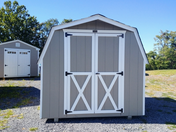 8 x 8 Barn Shed 4ft sidewall Stock#1174-W