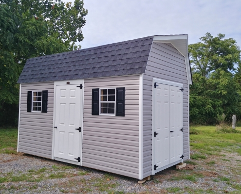 8x14 Vinyl Sided Barn Stock#1192-W