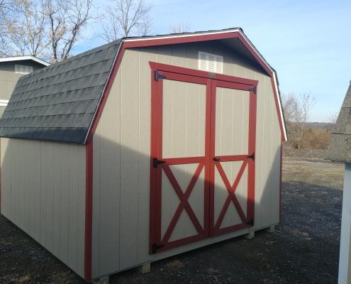 10x10 4ft sidewall Barn Storage Shed Stock#1280-W