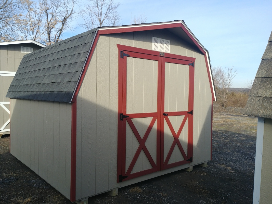 10x10 4ft sidewall Barn Storage Shed Stock#1280-W