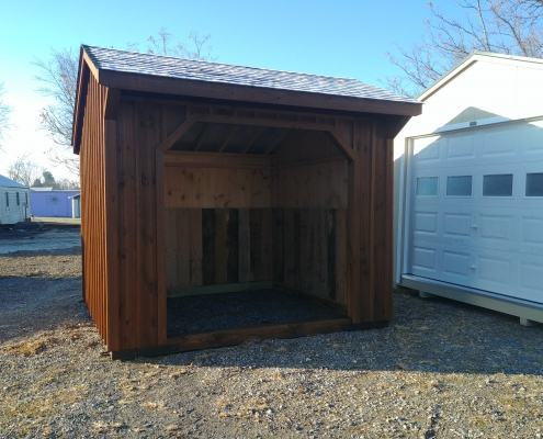 10x10 Run in shed Stock#1294-W