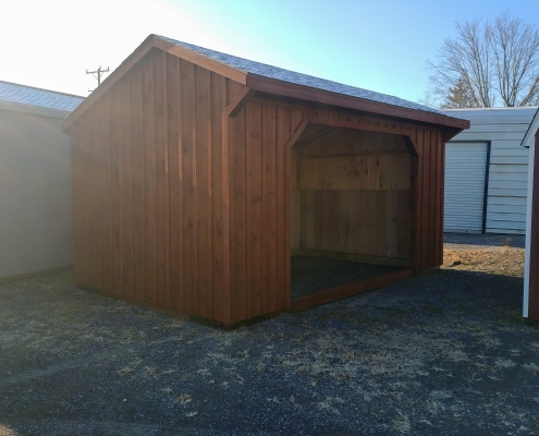 10x16 Run in shed Stock#1295-W