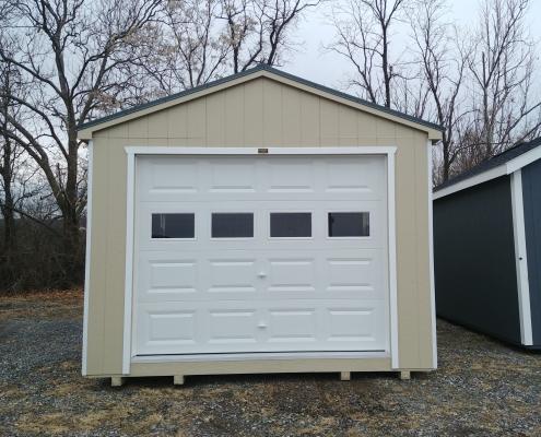 12x20 8ft sidewall Cottage Garage Stock#1076-W