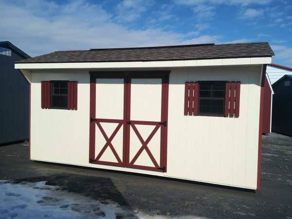 8x16 7ft sidewall Carriage House Stock#1306-W