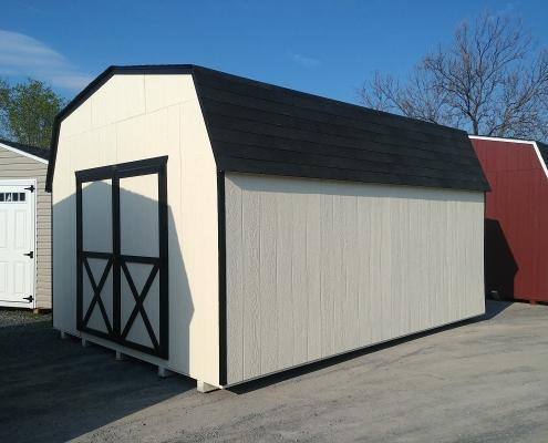 12x16 6ft sidewall Economy Barn Stock#1318-W