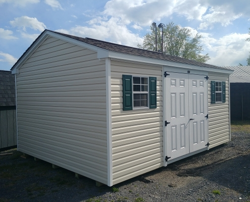 12x16 7ft sidewall Cottage Stock#1321-W