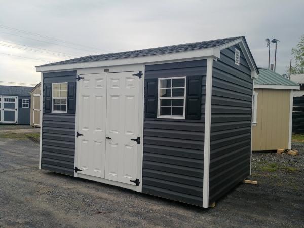 8x12 7ft sidewall Cottage Stock#1304-W