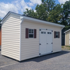 8x16 8ft sidewall Carriage House Shed Display#1307-W