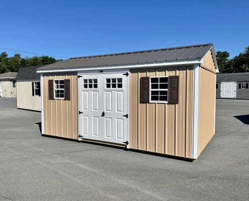 10x16x7 Metal Cottage H3665