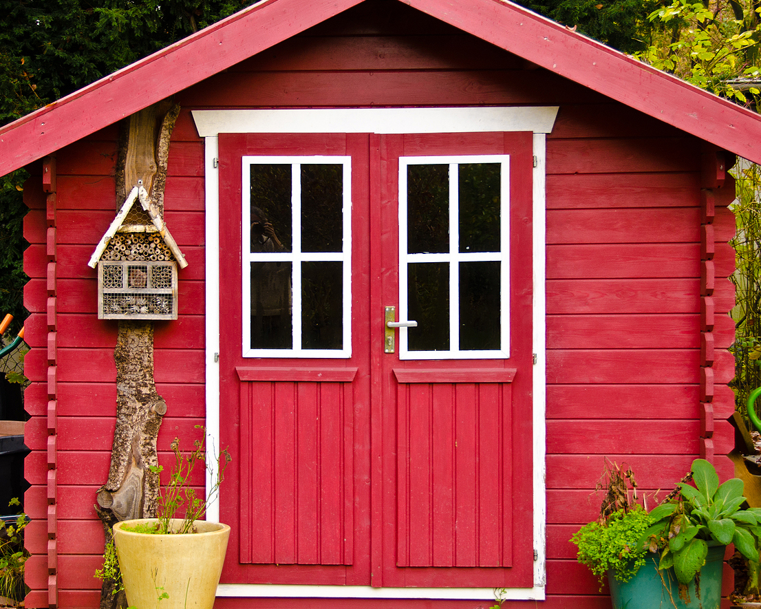 Red customized sheds