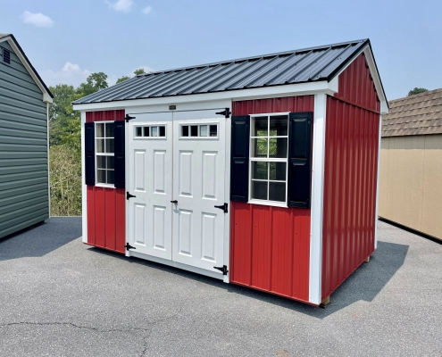 8x12x7 Metal-Sided Cottage H2466